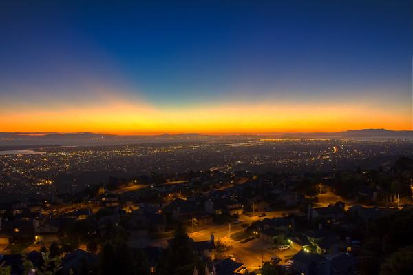 Oakland at Sun Down